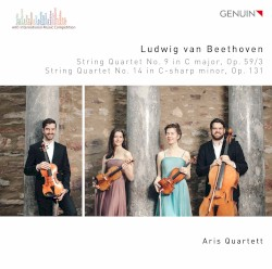 String Quartet no. 9 in C major, op. 59/3 / String Quartet no. 14 in C-sharp minor, op. 131 by Ludwig van Beethoven ;   Aris Quartett